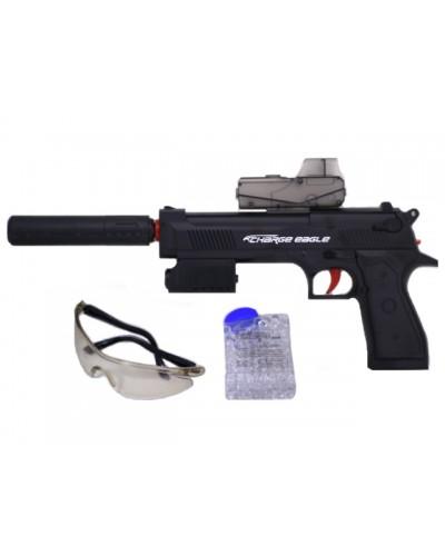 Пистолет аккум. HT9911-1, вод.пули, аксес., в коробке 27*17*9см