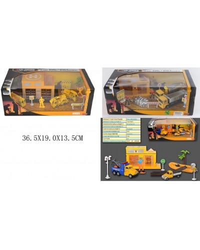 Игровой набор металл GZ3136C/138C/142C, СТРОЙКА 3 вида, в коробке 36,5*