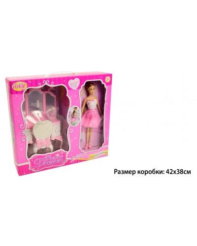 "Кукла типа ""Барби""Anlily"" 99050 трюмо с зеркалом,стул, в кор.41*12*38см"