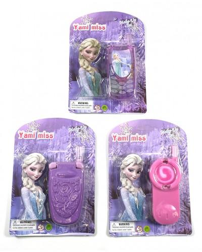 Моб.телефон 15028A/B/C, Frozen, 3 вида, на планш.17*12*1,5см