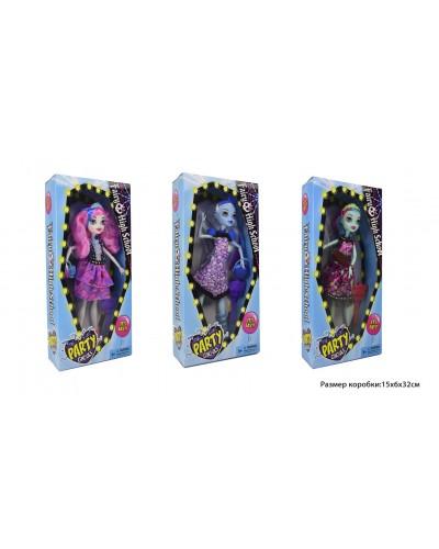 Кукла  DH2173 3 вида, с сумочкой, в кор. 15*6*31,5см