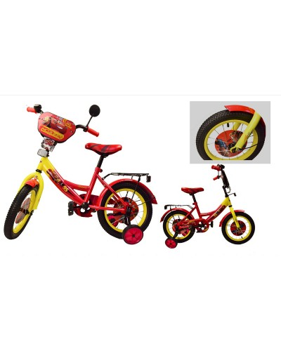 "Велосипед 2-х колес 12"" 181217 со звонком, зеркалом, без ручного тормоза"