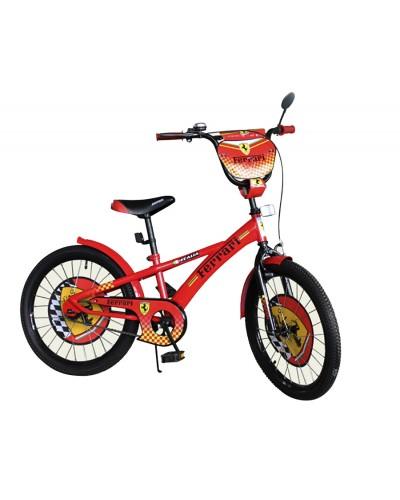 Велосипед 2-х колес 18'' 171805 со звонком, зеркалом