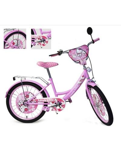 Велосипед 2-х колес 20'' 182005 со звонком, зеркалом, руч.тормоз, без доп.колес