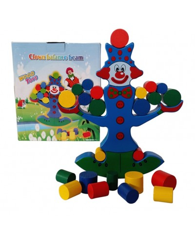 Деревян.Клоун MG-529 логика-баланс, в коробке