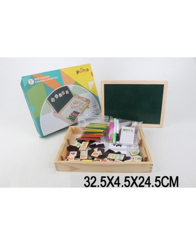 Деревян. логика LS8014 в коробке 32,5*4,5*24,5 см