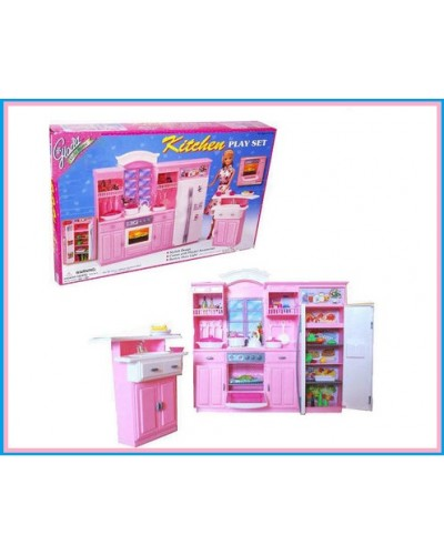 "Кухня ""Gloria"" 24016 )батар., холодильник, газплита, мойка, в кор.43*30*6см"