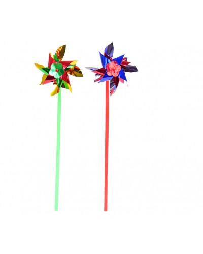 Ветрячок 2025-5 голограмма  высота 28 см,цветок 10 см