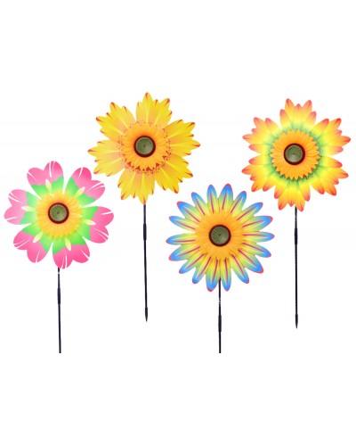 Ветрячок W2006 микс видов, цветы, на палочке 57 см