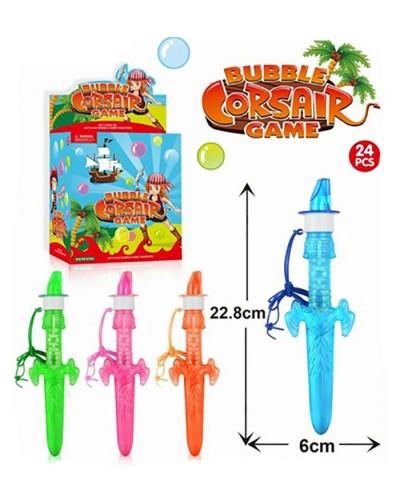 Мыльные пузыри SSP826006 (24шт) меч, 4 цвета, в боксе