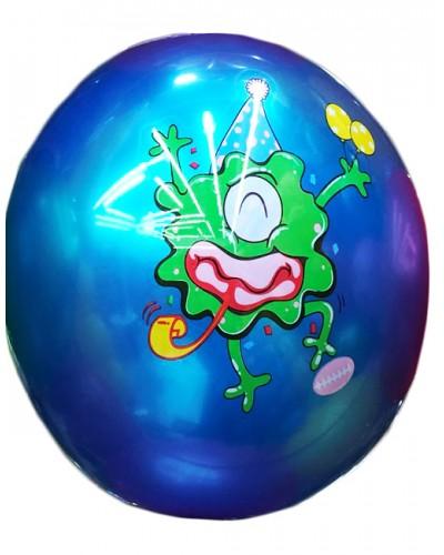 """Мяч резиновый CL12-10 """"Монстрики"""" 9"""", 60грамм,4 цвета"""