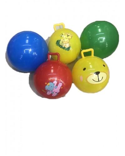 Мяч резиновый B25277 гири, 5 видов, 23см 80г