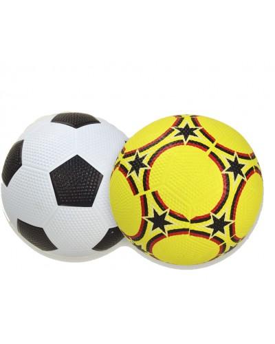 Мяч футбол YW18009 #5, 2 вида, сетка, иголка