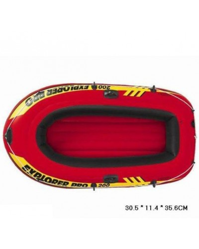 "Лодка 58356 ""EXPLORER"" на 2чел (до 120кг), рем. комплект, рифл. дно, ручки, веревочка(196*102*33см)"