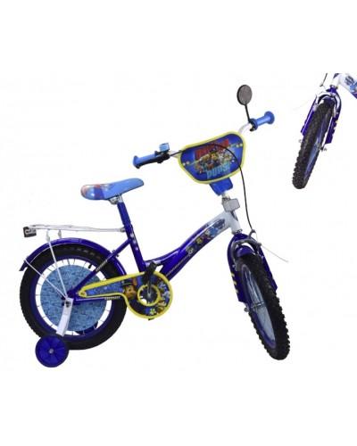 Велосипед 2-х колес 14'' 181423 (1шт) со звонком,зеркалом,руч.тормоз