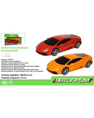 "Машина метал-пластик 7605 ""АВТОПРОМ"" 1:32 Lamborghini Huracan LP610-4, свет, звук, в кор."