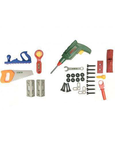 Набор инструментов 2059  пила, дрель, ключи, в чемоданчике 31*16*13см