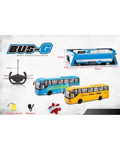 Автобус аккум. р/у 666-698A  2 вида, звук, в кор. 39,8*13*12,8см