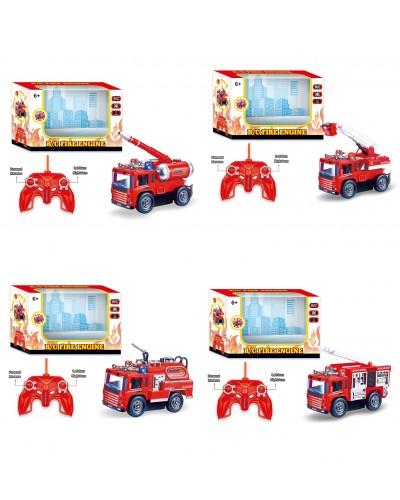 Пожарная машина батар. 128A-11/2/3/4  4 вида, свет, в кор.