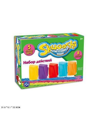"""Игра """"Живой песок-Skwooshi"""" 7224 песок-7 цветов, формочки, скалка, в коробке 31*5,1*22,8см"""