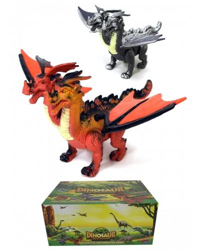 Животные 788-1 батар, дракон, звук, 6 штук в боксе 37*28*16 см