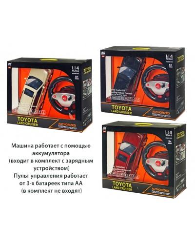 Машина аккум р/у HQ200135S  TOYOTA LAND CRUISER, 3 цвета, свет, звук, в коробке 52,5*16*40см