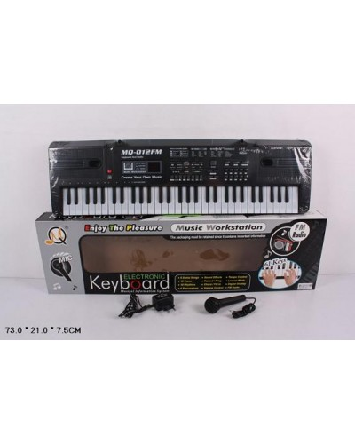 Орган MQ-012FM  от сети, 61 клавиша, с микрофоном, фм радио, в кор. 73*21*7,5см
