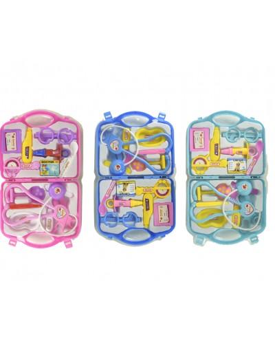 Доктор 2239-3/2/1 3вида, стетоскоп, шприц, градусник, очки, мед. лоток…в чемод. 23*