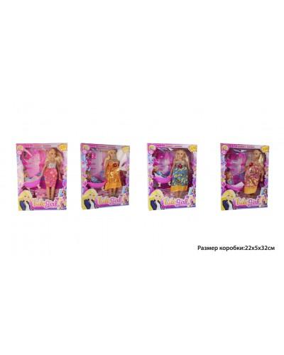 "Кукла типа ""Барби""Беременная"" 6013K 2вида, куколка, ванна, бутыл, аксесс, в кор.21,5*5*"
