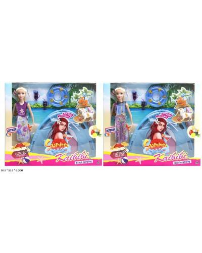 "Кукла типа ""Барби"" BLD145  2 вида, с палаткой, посудкой, собачкой, в кор."