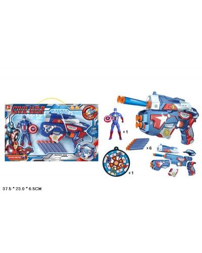 Игровой набор  SB268A/B/SB273/SB269  4 вида, маска, оружие с поролон. снарядами, мишень в кор.