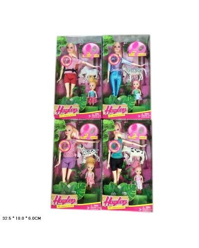 """Кукла типа """"Барби"""" HB027  малеькая кукла, питомец в кор.32,5*18*6 см"""