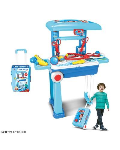 "Набор ""Доктор"" 008-925A чемодан превращ.в стол, стетоск, шприц, аксес, в чемодане 53*24,5*32,8 см"