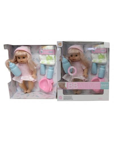 Кукла муз YL228-8  12 звуков, горшок, бутылка, подгузник, аксес, в кор.32*29*12 см