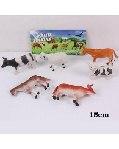 Животные 3121  домашние, в пакете 15см