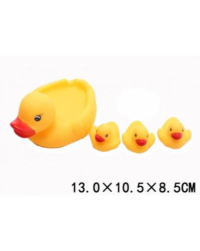 Пищалка 666-007  1725445   уточка, 4 штуки в сетке, 13*10,5*8,5см