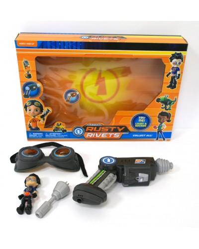 Игровой набор 25106  фигурка героя, инструмент, очки, в кор. 33,5*5,5*23,5см