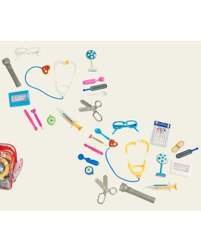 Доктор 3306   144шт/2  стетоскоп, ножницы,пинцет, шприц,    в сумке 17*5*12см