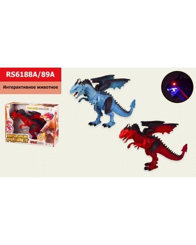 Интерактивный дракон RS6188A/89A пар, звук, движение, свет,в кор. 40*12,5*30,5см