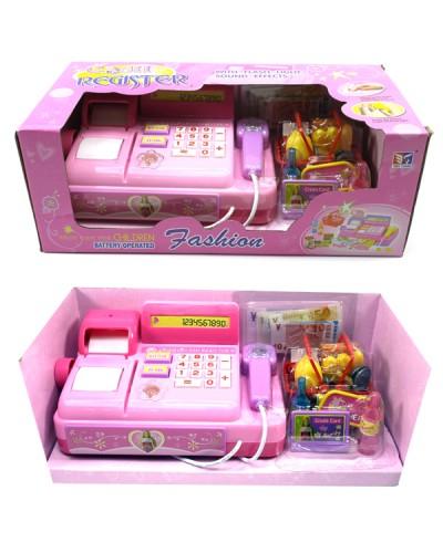 Кассовый аппарат 3138A батар., выдает чек, с продуктами, карточками, в кор. 27*13*11cм