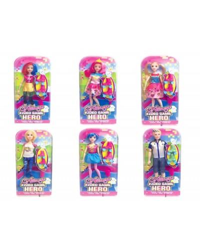 """Кукла типа """"Барби"""" D210  24шт  6 видов микс, на планшетке 33*17*7 см"""
