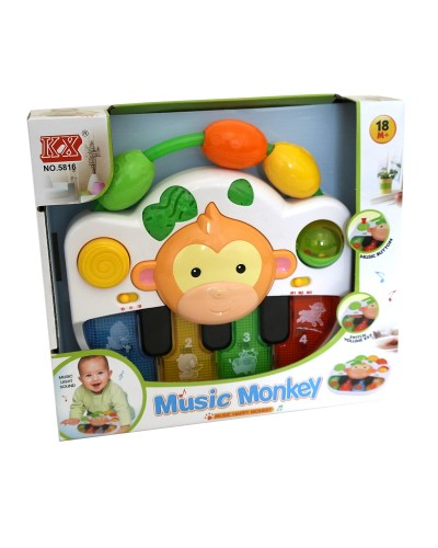 Муз. разв. орган 5816 муз, свет, звуки животных,в коробке 28*7*25 см