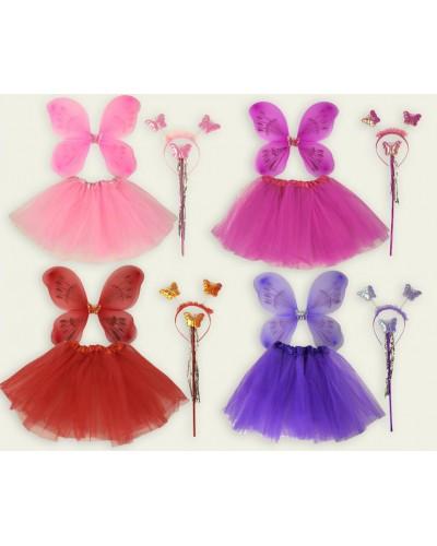 """Аксессуары """"Костюм бабочки"""" CEL-172 , 4 вида,  крылья,  ободок, юбка, в пакете 50*52см"""