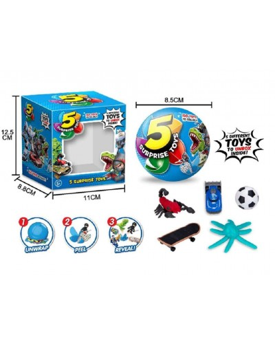 Герои 510  шар состоит из 5 сегментов в каждом игрушка, цена за 1шт, диаметр шара 8,5см