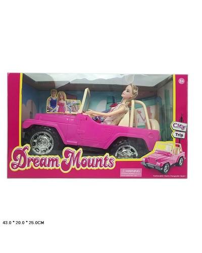 Машина  JND-1308  с куклой, джип, в коробке 43*20*25см