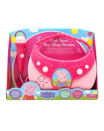 Микрофон DS-003-1F сумочка-динамик,звук, в коробке 26*31*8см