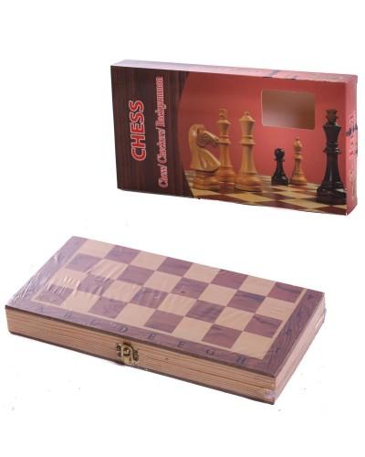Шахматы дерев. S2416  в коробке 24*12,5*3см
