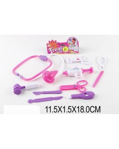 Доктор 1601  10 ин-тов:шприц, стетоскоп, градусник, ножницы, скальпель, в пакете11