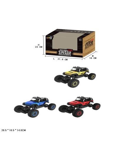 Машина аккум р/у G03053R   3 цвета, в кор. 26,5*16,5*14см