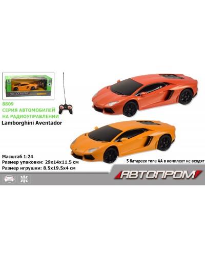 """Машина батар. р/у 8809 """"АВТОПРОМ"""" """"1:24 R/C Lamborghini LP700"""" в коробке 20,5*9*6см"""